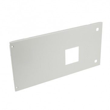 Metal faceplate XL³ 4000 - DPX 630 draw-out+elcb - horizontal - hinges and locks