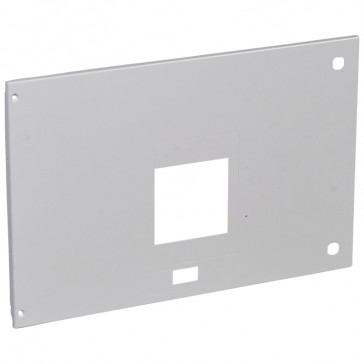 Metal faceplate XL³ 4000 - DPX 1600 draw-out motor-driven/rotary handle - horiz