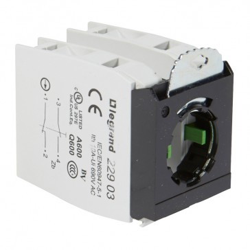 Osmoz block sub-assemblies - for non illum head - 2xNO/NC + 3 position clip