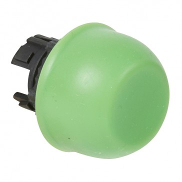 Osmoz non illuminated spring return head - flush with shroud - green