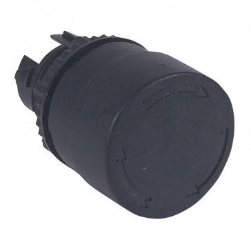 Osmoz non illuminated stay-put mushroom head - push-turn - black Ø32