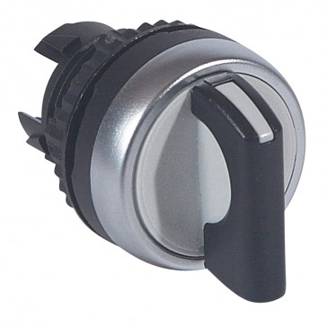 Osmoz non illuminated standard handle selector switch - 2 stay-put positions - black