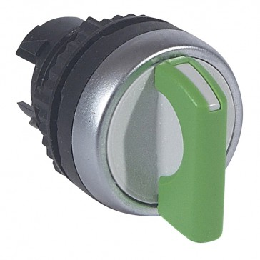 Osmoz non illuminated standard handle selector switch - 3 stay-put positions - green
