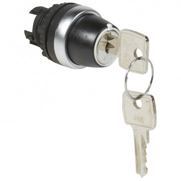 Osmoz non illuminated key selector switch - 2 stay-put positions 45°