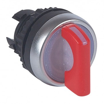 Osmoz illuminated standard handle selector switch - 2 stay-put positions 45° - red