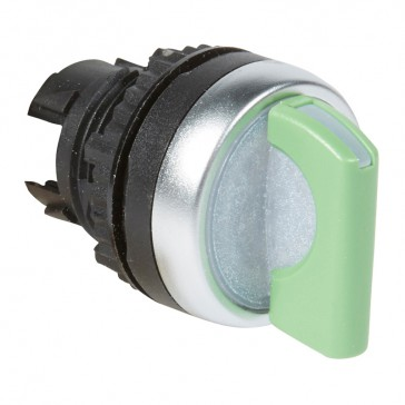 Osmoz illum standard handle selector switch - 2 stay-put positions (0-12h) - green