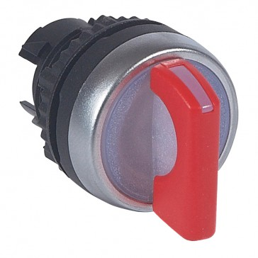 Osmoz illuminated standard handle selector switch - 2 stay-put positions 90° - red