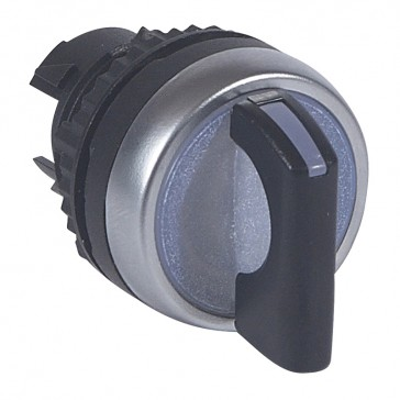 Osmoz illuminated standard handle selector switch - 3 stay-put positions 45° - black