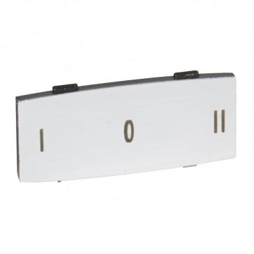 Osmoz legend plate - with engraving - alu - standard modulesl - ''I O II''