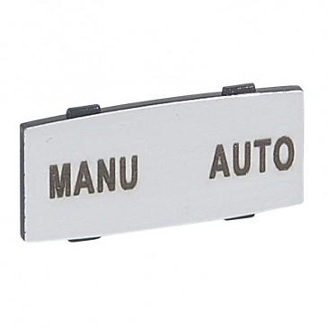 Osmoz legend plate - with engraving - alu - standard modulesl - ''MANU-AUTO''