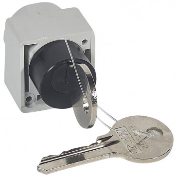 Locking accessory and flat key - for motor-driven handle DPX 250 to 1600