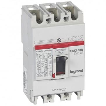 MCCB - DRX 125 - thermal magnetic - Icu 10 kA - 415 V~ - 3P - In 25 A