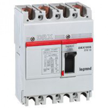 MCCB - DRX 125 - thermal magnetic - Icu 10 kA - 415 V~ - 4P - In 25 A