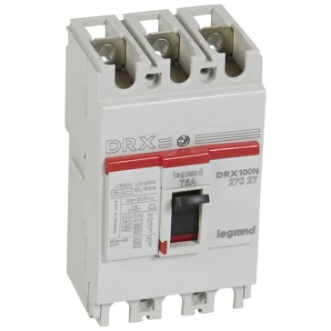 MCCB - DRX 125 - thermal magnetic - Icu 20 kA - 415 V~ - 3P - In 75 A