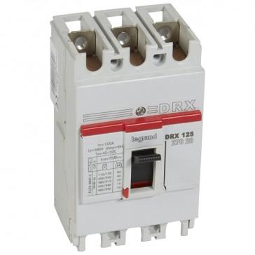 MCCB - DRX 125 - thermal magnetic - Icu 20 kA - 415 V~ - 3P - In 100 A