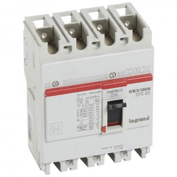 MCCB - DRX 125 - thermal magnetic - Icu 20 kA - 415 V~ - 4P - In 25 A