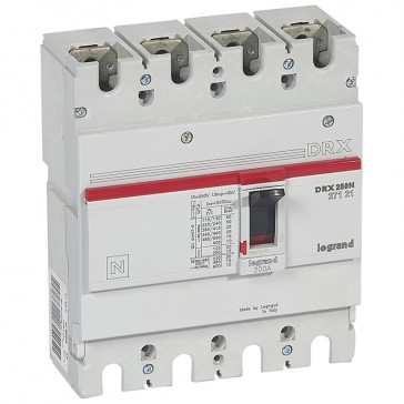 MCCB - DRX 250 - thermal magnetic - Icu 25 kA - 415 V~ - 4P - In 200 A