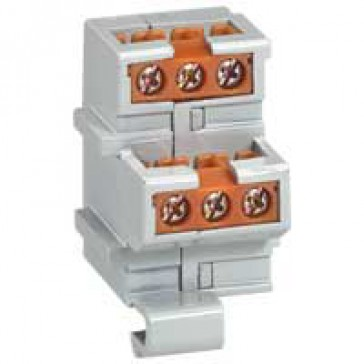 Auxiliary contact block - for DRX - with 1 auxiliary + 1 alarm