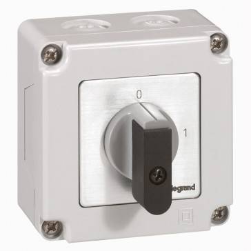 Cam switch - on/off switch - PR 12 - 2P - 16 A - 2 contacts - box 76x76 mm