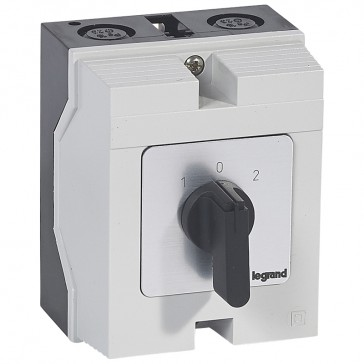 Cam switch - changeover switch with off - PR 21 - 2P - 25 A - box 96x120 mm