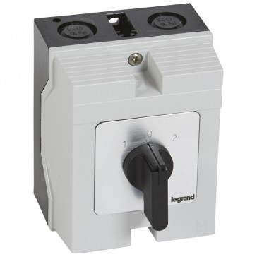 Cam switch - changeover switch with off - PR 21 - 3P - 25 A - box 96x120 mm