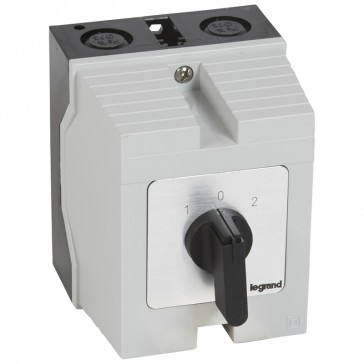 Cam switch - changeover switch with off - PR 21 - 4P - 25 A - box 96x120 mm