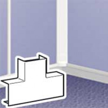 Flat T junction - for DLPlus mini-trunking 75x20 - white