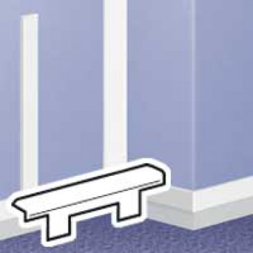 End cap - for DLPlus mini-trunking 60x20 - white