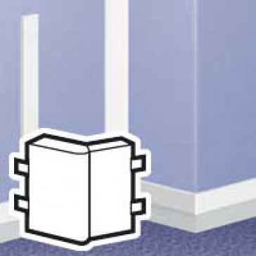 Changeable external angle - for DLPlus mini-trunking 75x20 - white