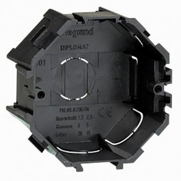 Flush mounting box - universal - for masonry - 1 gang