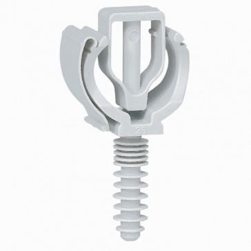 Conduit support with screw-in wall plug - for conduits Ø21