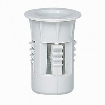 Accessory for conduit support w scew-in wall plug for plasterboard plate