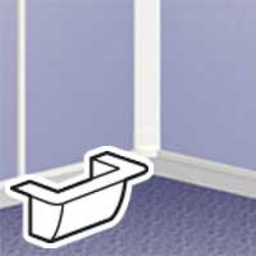 Adaptor - for mounting Mosaic frame at the end of mini-trunking DLPlus width 32