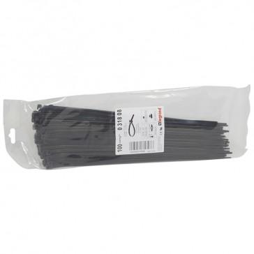 Cable tie Colring - width 4.6 mm - L. 280 mm - sachet 100 pcs - black