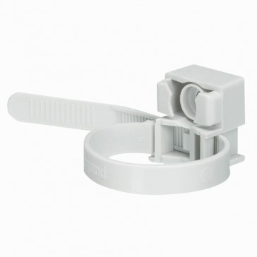 Cable tie with base - for interior use - grey RAL 7035