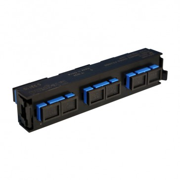 LCS³ fibre optic block - single-mode fibre optic block - SC duplex block for 6 single-mode fibre optics