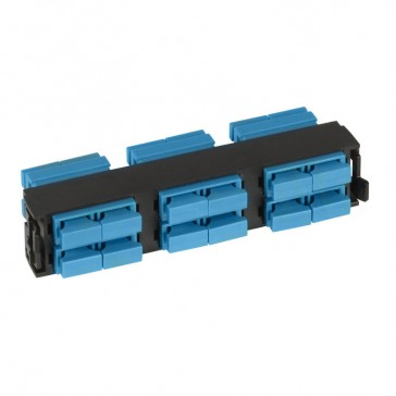 LCS³ fibre optic block - single-mode fibre optic block - SC duplex high density block for 12 single-mode fibre optics
