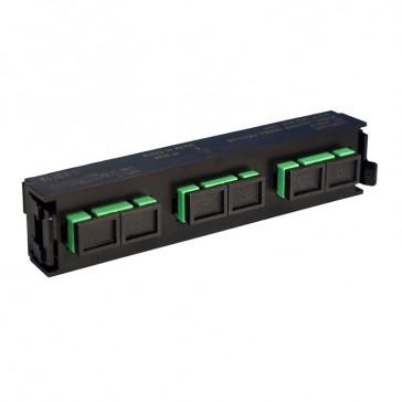 LCS³ fibre optic block - single-mode fibre optic block - SC APC duplex block for 6 single-mode fibre optics