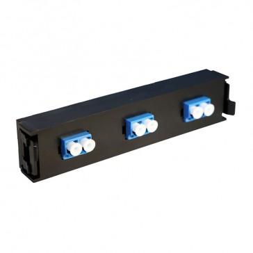 LCS³ fibre optic block - single-mode fibre optic block - LC duplex block for 6 single-mode fibre optics