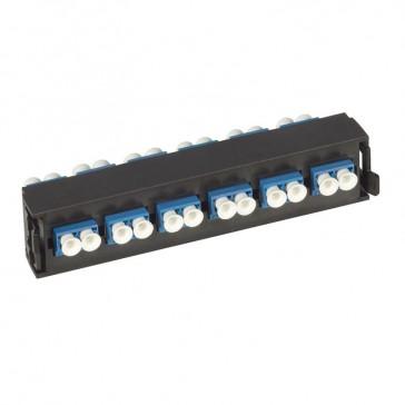 LCS³ fibre optic block - single-mode fibre optic block - LC duplex block for 12 single-mode fibre optics