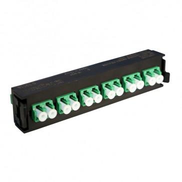 LCS³ fibre optic block - single-mode fibre optic block - LC APC duplex block for 12 single-mode fibre optics
