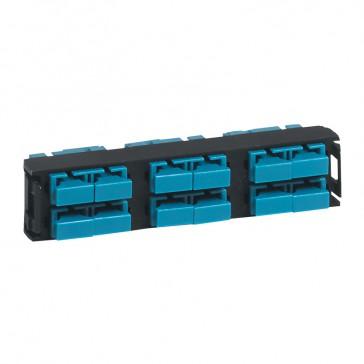 LCS³ fibre optic block - multimode fibre optic block - SC duplex high density block for 12 multimode fibre optics