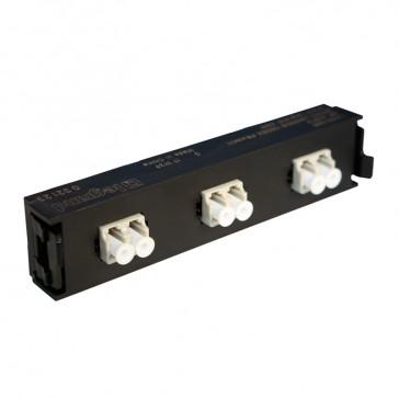 LCS³ fibre optic block - multimode fibre optic block - LC duplex block for 6 multimode fibre optics