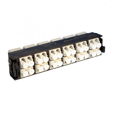 LCS³ fibre optic block - multimode fibre optic block - LC duplex high density block for 24 multimode fibre optics