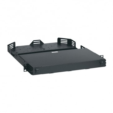 LCS³ ultra high density modular fibre optic drawer with front facing cord management - 1U - to be equipped with cassette