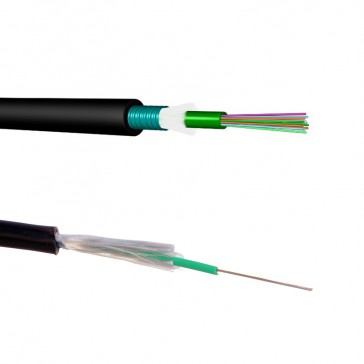 LCS³ OS2 single-mode fibre optic cables - loose tube - outdoor - corrugated steel tape - 8 fibres - 2000 m