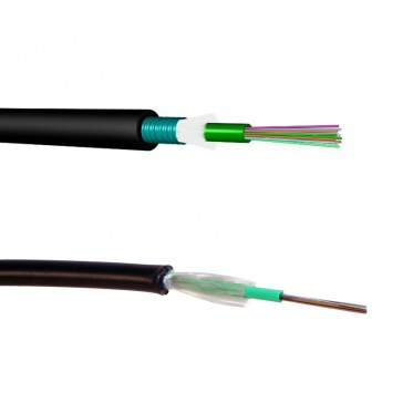 LCS³ OM3 multimode fibre optic cables - loose tube - outdoor - corrugated steel tape - 12 fibres - 2000 m
