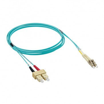Patch cord fibre optic - OM 3 multimodules (50/125 μm) - SC/LC duplex - 1 m