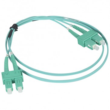 Patch cord fibre optic - OM 4 multimodules (50/125 μm) - SC/SC duplex - 1 m