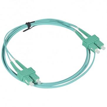 Patch cord fibre optic - OM 4 multimodules (50/125 μm) - SC/SC duplex - 2 m